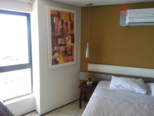 flat  residencial à venda, mucuripe, fortaleza. - fl0022