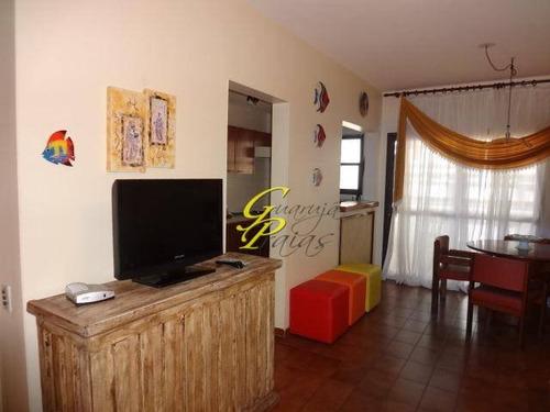 flat residencial à venda, praia de pitangueiras, guarujá. - codigo: fl0015 - fl0015