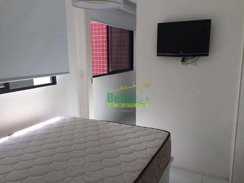 flat top com 1 dormitório à venda, 34 m² por r$ 250.000 - parnamirim - recife/pe - fl0044