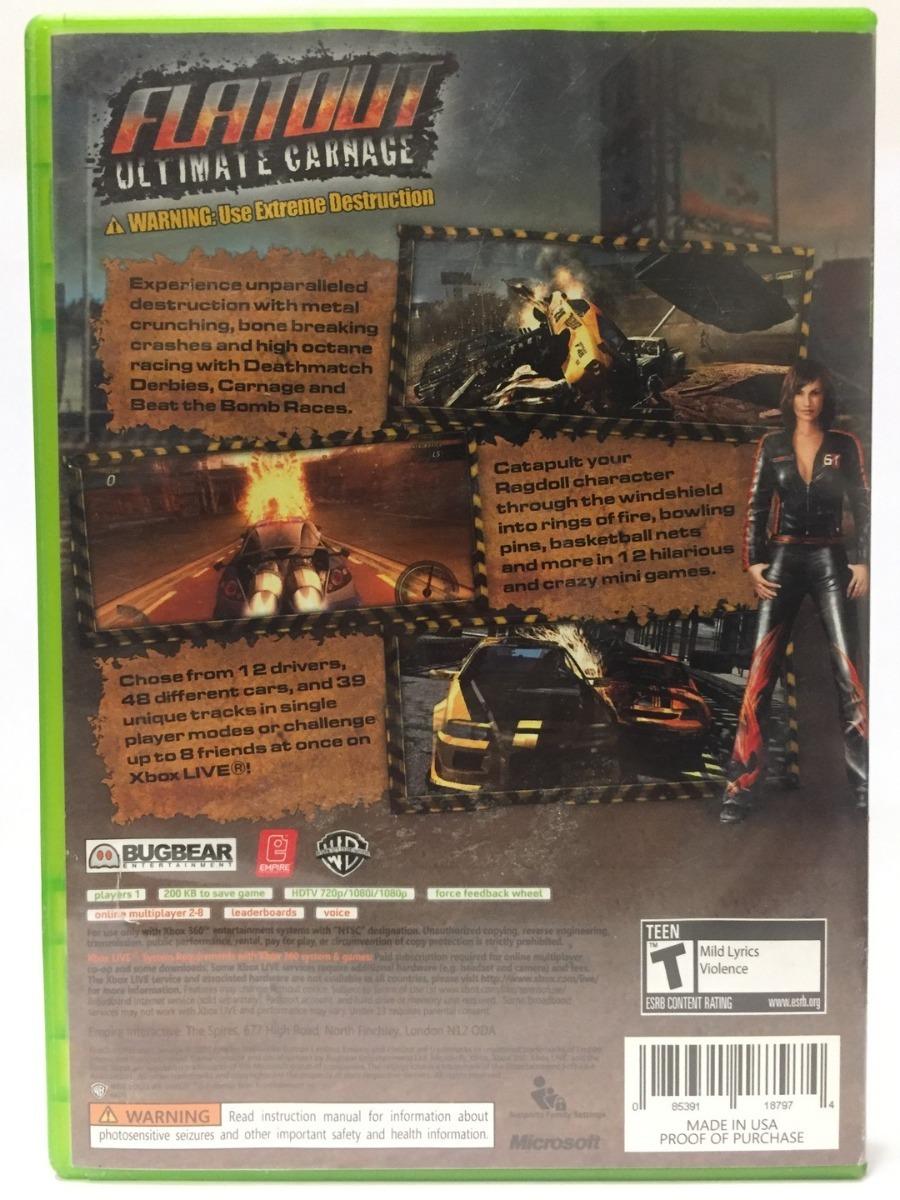 Code De Flatout Ultimate Carnage Sur Xbox 360 | backdarnamac ml