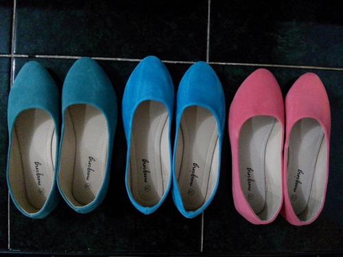 flats 24 y 24.5 zapatos comodos bajos dama s/ tacon balerina