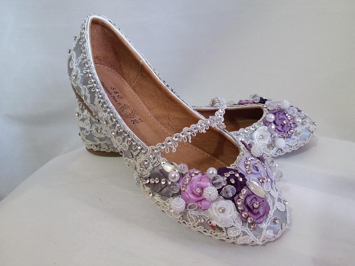 213a2a3fc77 Bellos Zapatos Flats Quinceañera Dama Niña De Las Flores -   980.00 ...