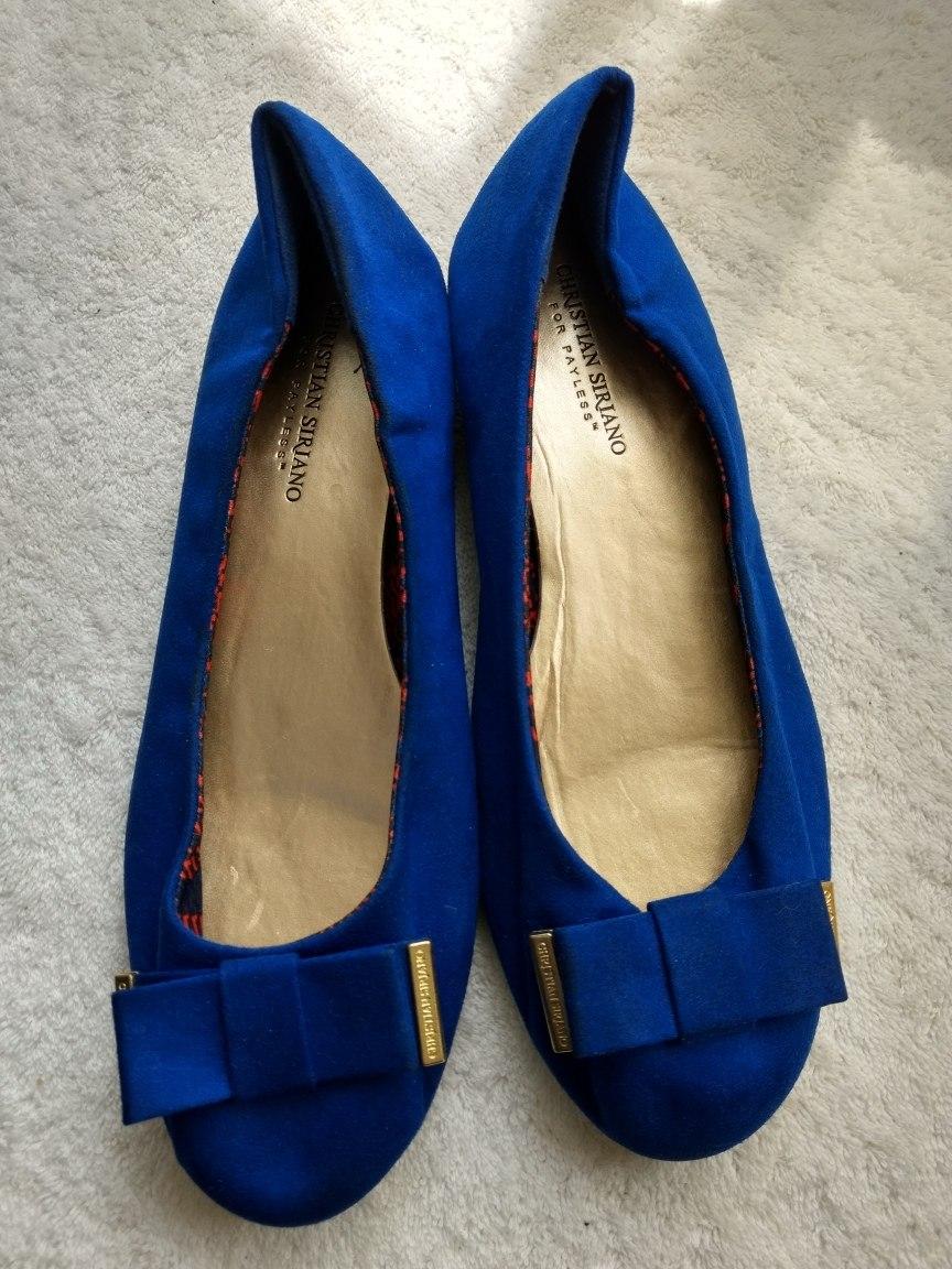 78e3f839460a Flats Tela Azul Rey Christian Siriano Grandes 10w Usa 27 Mex ...