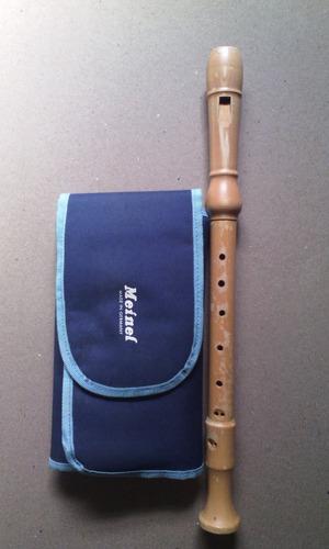 flauta alto de madera marca meinel alemana