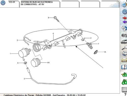 flauta bico injetor motor fox polo golf original volkswagen