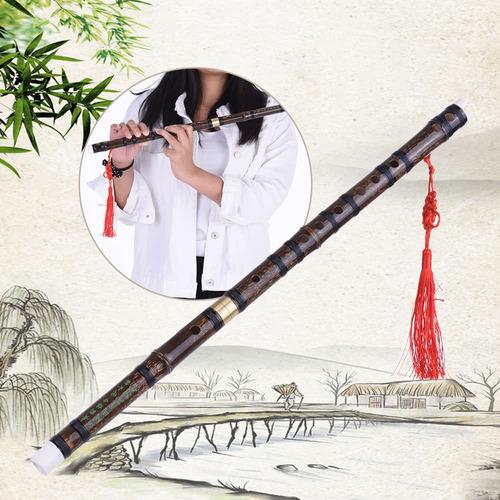 flauta de bambú natural desmontable f key con accesorios