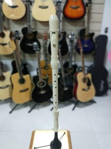 flauta doce tenor dolphin barroca dó abs marfim original