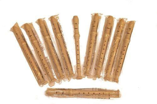 flauta dulce parquer blanca pack colegio x10u oferta!