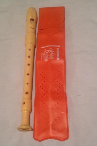 flauta hohner barroca (plastico) 2 piezas, color marfil.