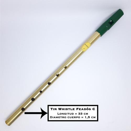 flauta irlandesa - tin whistle. c (do) brass