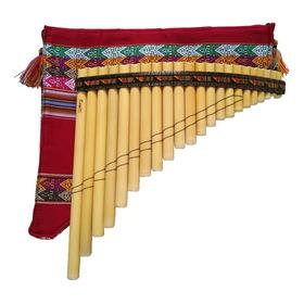 Flauta Pan Profesional De 22 Tubos Con Estuche. Zampoña