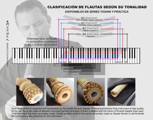 flauta shakuhachi japonesa clave b3