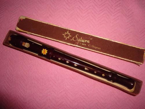 flauta soprano saturn, hecha en alemania democrática