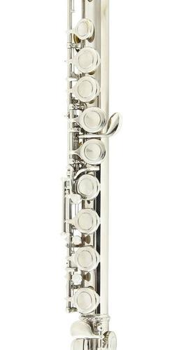 flauta transversal eagle fl03n niquelada dó profissional