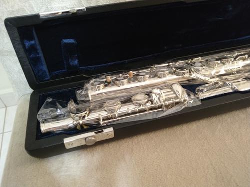 flauta transversal jahnke 17 níquel pé em si vazada - nova