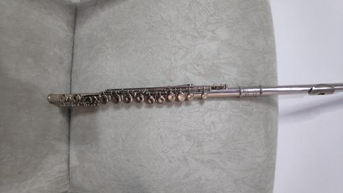 flauta transversal michael níquel em dó + bocal infantil -