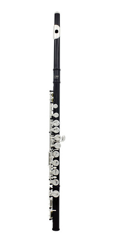 flauta traversa de cuproníquel con baño en plata, 16 hoyos c