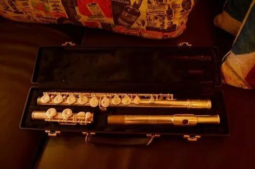 flauta traversa gemeinhardt 52sp (ed especial) baño de plata