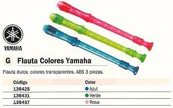 flauta yamaha soprano yrs 20g de colores