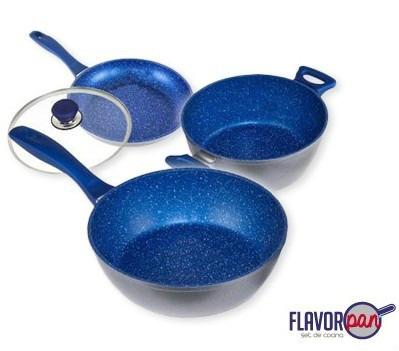 Flavor pan sartenes cocina sin grasa stone 1 en for Utilidad del marmol