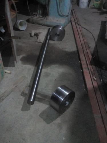 flecha diametro de 3   con dos ruedas solidas