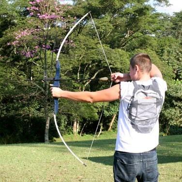 86c03b3b0 flecha flechas arco · arco flecha xavante nautika 48 libras kit 3 flechas +  alvo