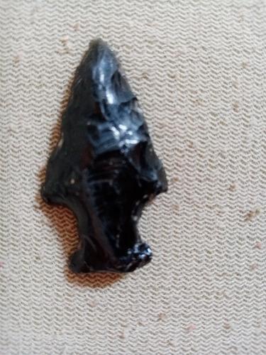 flecha obsidiana antigua