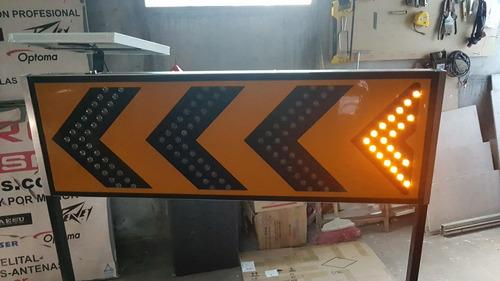 flecha vial 8117 programable - solar - soporte - 120x40