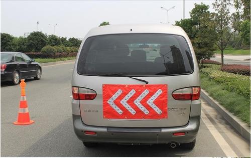 flecha vial de seguridad ei-2648 pvc con led e iman