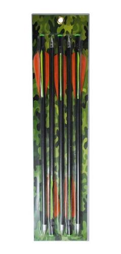 flechas de fibra de vidrio x 5unidaes p/ ballesta