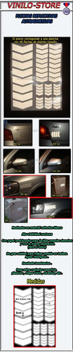 flechas reflectivas autoadhesiva auto moto bicicleta trailer