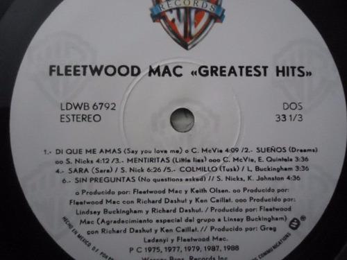 fleetwood mac / greatest hits vinyl lp acetato