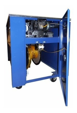 flejadora semiautomatica con 2 rollos de 700m fleje plastico
