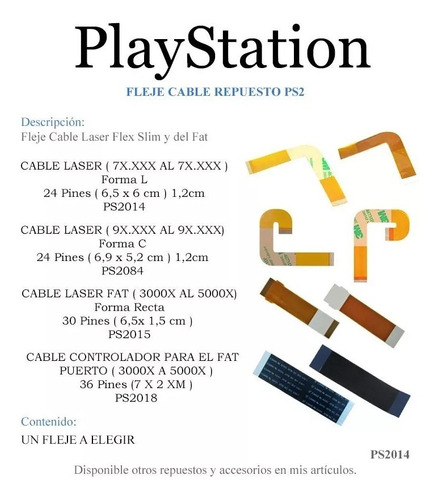 fleje flex sony play station 2 cable lente optico