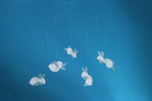 flensted mobiles circular bunnies hanging nursery mobile - 2