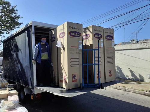 flete...camion con pala hidraulica mataderos lugano madero
