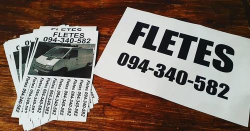 fletes  baratos - encomiendas - traslados - mudanzas