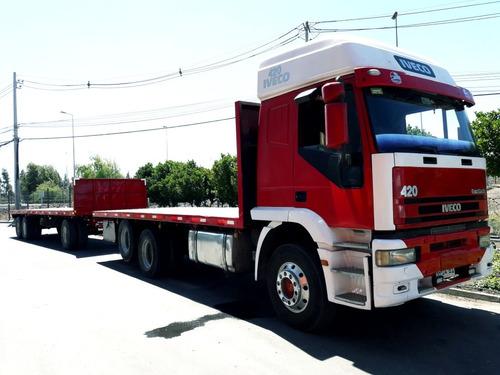 fletes camion plano y carro rampla plana