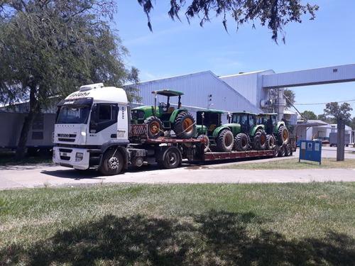 fletes con carretón, maquinarias agricolas y viales