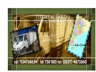 fletes con pala hidraulica, transportes, mudanzas
