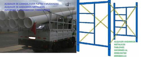 fletes mudanzas alquiler camiones camioneta dentro y fuera