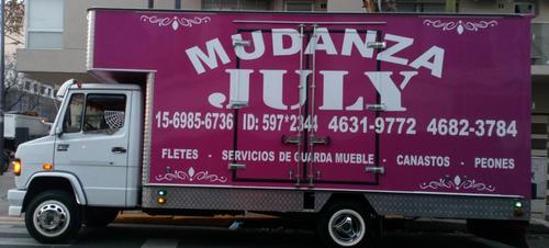 fletes mudanzas july, embalaje,transporte,soga,canastos