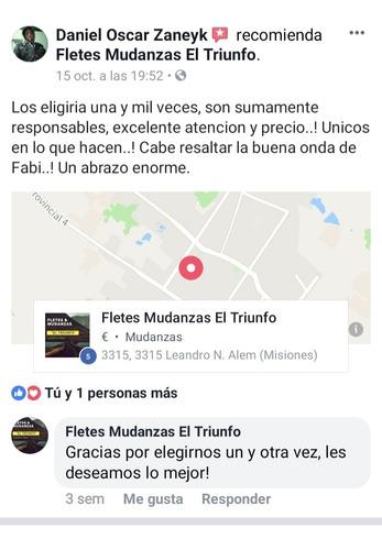fletes mudanzas nacionales y a paraguay