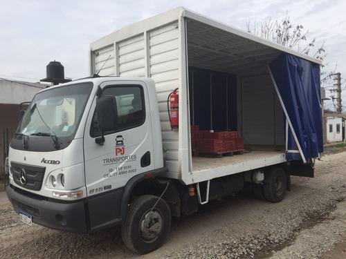 fletes mudanzas transporte camiones con pala hidraulica semi