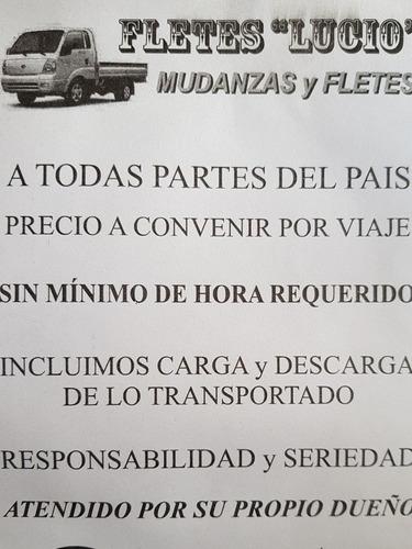 fletes mudanzas transporte camiones zona sur capital 24hs