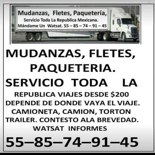 fletes, servicio mudanzas,