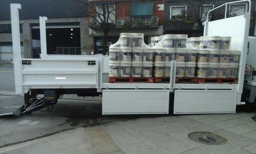 fletes transporte camiones con pala hidráulica balancín semi