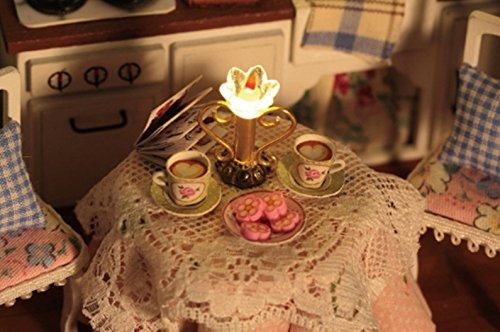 flever dollhouse miniature diy house kit habitacion creativa