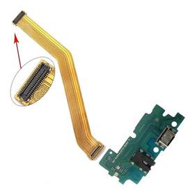 Flex Conector De Carga Microfone Samsung A50 A505 + Flex Lcd