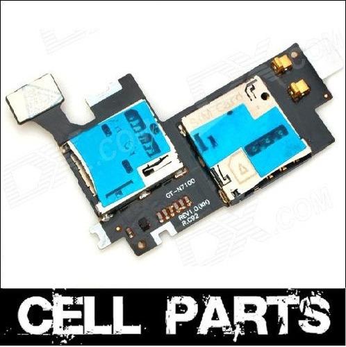 flex conector puerto sim y micro sd  galaxy note 2 n7100